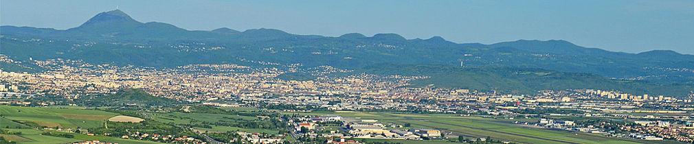 vue aerienne agglomération clermont ferrand
