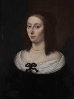 Portrait de Gilberte Pascal, épouse Périer  . Anonyme XVIIe siècle . huile sur toile  . Crédit : Clermont-Ferrand, MARQ/ Photo Thibaut Mazen